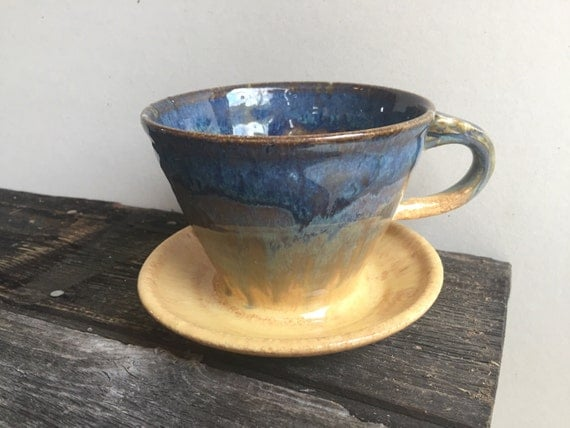 Pour Over Drip Coffee Maker with handle Ceramics Wheel Thrown