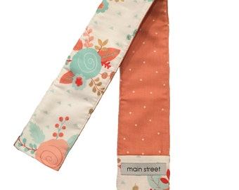 NEW!! Teal and Coral floral Camera Strap Cover