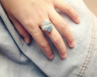 Crystal Ice Natural Stone Ring