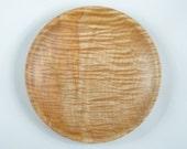 """Reserved for Jeanette 10 3/4"""" Western Bigleaf Maple Wooden Bowl/Platter"""