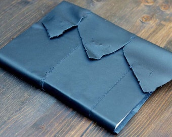 Black Leather Bristol Journal with Snap