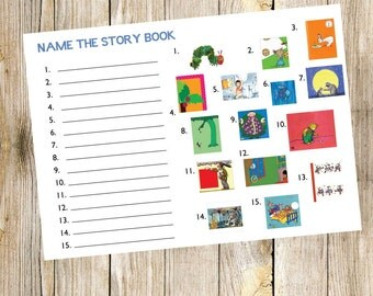Book Baby Shower Game - Name The Story Book
