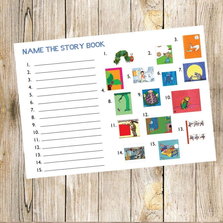 Book Baby Shower Game Name The Story Book