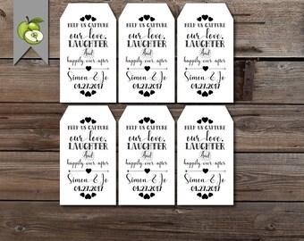 disposable camera tag, wedding tag, wedding camera tag, favour tag, favour tag, Custom wedding tag, custom tags, Tags,PRINTABLE AD1