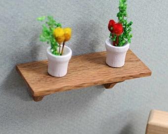 Mini Wall Shelf, Wood Dollhouse Furniture, Miniature Accessory, Mini Furniture, Dollhouse Miniature, Oak Furniture