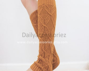 Mustard yellow womens leg warmers, knit leg warmers, leg warmers adult, boot socks, for girls, for women, Christmas Gifts, for her, for mom