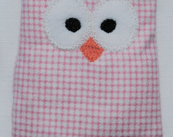 Ouchie Owl ~ Hot or Cold ~ Rice Pack - Pink and White - Checkered