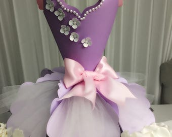 Princess paper dress centerpiece