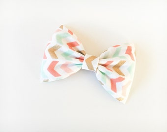 Pastel and gold arrow bow pastel bow pastel bow tie pastel hair bow