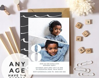 Any Age, 18th, 21st, 30th Invitations Personalised Invitations