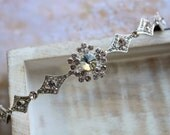 Art Deco Tiara  Art Deco Headband Small Crystal Tiara  Wedding  headpiece Crystal Headband Wedding Hair Accessories
