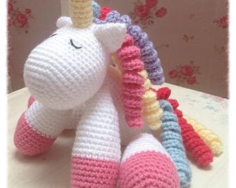 Amigurumi Crochet Unicorn