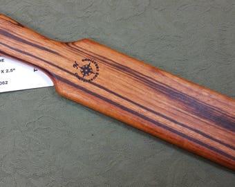 Tigerwood Goncalo Alves Miss Rose Paddles Exotic Hardwood  Spanking Paddle - Narrow BOE TG062