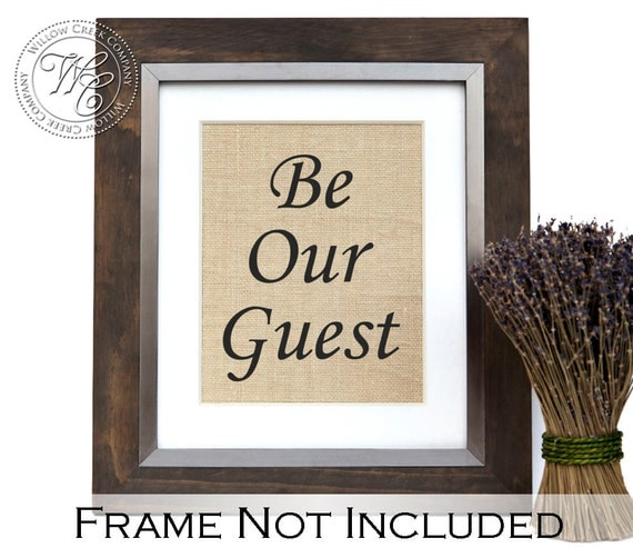 Guest Room Sign Decor: Be Our Guest Print Guest Room Decor Elegant Wedding Decor