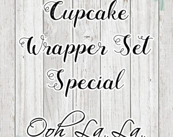 Mystery Cupcake Wrapper Set of 12 in STANDARD SIZE (Special Pricing)