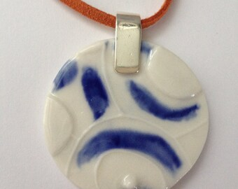 Ceramic Necklace - jewellery - statement unique pendant