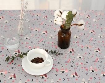 "Laminated cotton Fabrics yard Waterproof oilcloth vinyl wide 43""_Indi camp_CH979516"
