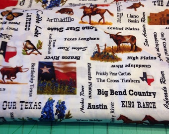 Texas fabric by Moda out of print end of bolt