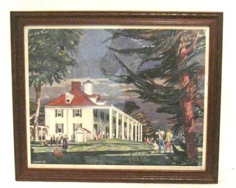 "Vintage Framed Print, Mt. Vernon, Virginia, 14 3/4"" x 11 3/4"""
