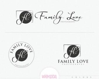 Photographer Name Design 2-  camera Initials elegant name-branding emblem logo -  photography branding logo -masculine and gender neutral