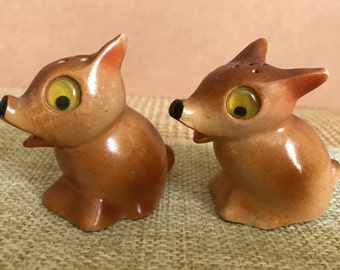 Vintage Pair of Googly Eyed Dogs - Salt & Pepper Shakers, Japan 1950s-60s