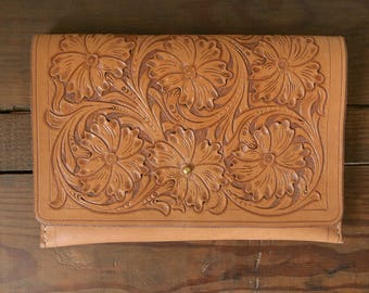 Sheridan Style Tooled Leather Clutch
