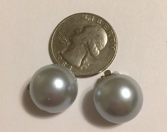 Faux Dark Grey Pearl Play Clip Earrings for your Lil Princess.
