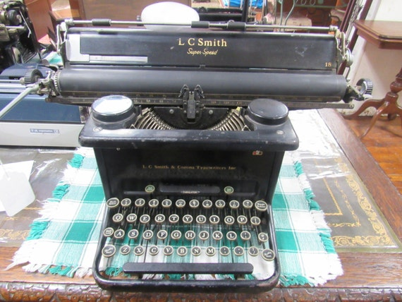 "Smith Premier Typewriter with 18"" carriage"