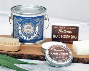 Dads Fathers Day Kit, Fathers Day, Dads Birthday, Hand care kit.