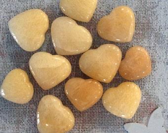 Yellow Aventurine Large Gemstone Heart, Spiritual Stone, Healing Stone, Healing Crystal, Chakra