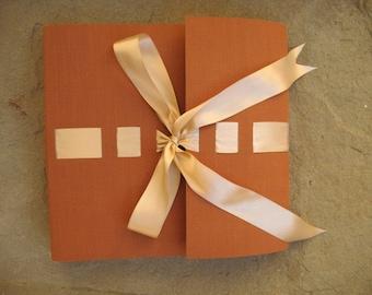 wedding photo album satin ribbon 30x30cm made in italy