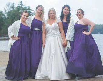 Set of 5 Wedding Shawl, Bridal Shawl, bridal cover up, bridal scarf, Bridesmaid Gift, best seller
