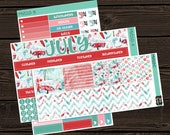 July Monthly View Planner Stickers Monthly Kit Vertical Kit  Stickers Monthly View Sticker Kit Planner Stickers MV010