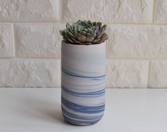 Marbled Planter, Planter, Succulent Planter, Ceramic Planter, Indoor planter, Outdoor Planter, DIY, agate, marbled, no plant, C9