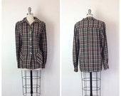 Black Friday Sale /// 60s Plaid 49er Pendleton Wool Women's Coat / 1960s Vintage Wool Jacket / OSFM