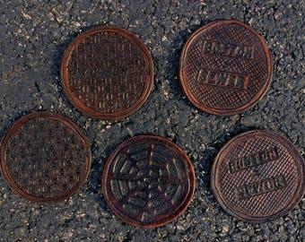 City Manhole Coasters
