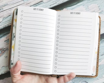 Traveler's Notebook POCKET Size To Do List Inserts