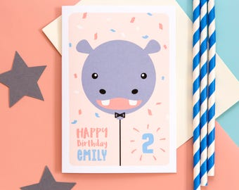 Children's Personalised Birthday Card // Kids Birthday Card // Girls Birthday Card // Boys Birthday Card // Personalised Card