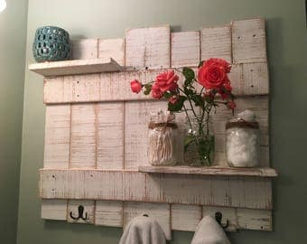 Rustic Towel Rack Wooden Towel Rack Rustic Bathroom Decor Bathroom