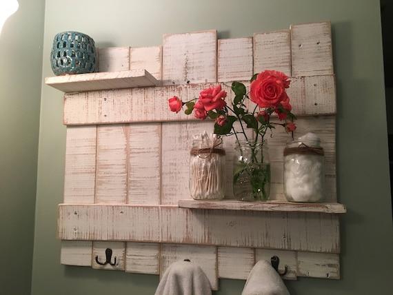 Rustic Towel Rack//Wooden Towel Rack//Rustic Bathroom