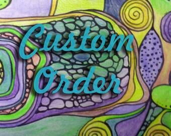 """Custom order for D.: Ooak Custom Blythe doll - """"Shy Daisy"""""""