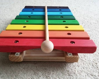 Rainbow colored xylophone