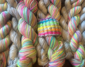Self Striping Sock Yarn Electric Eleven
