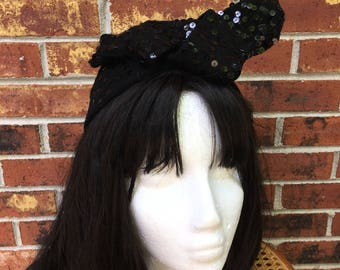 Vintage Wool Sequin Bow Hat
