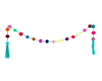 Pom Pom Decor Garland / Tree Decoration / Party Decoration (Multicolor) - Mexico (006P)