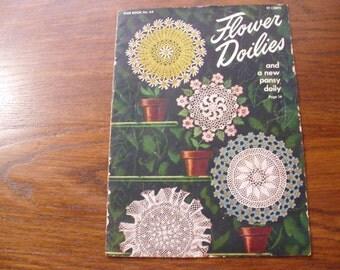 Vinatge Crochet Pattern Book, Crochet Patterns, Crocheted Doily Patterns, Flower Doily Crochet Patterns,  Crochet Instructions