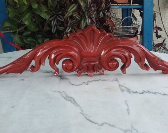 Large architectural salvage, wood furniture element, handcraft wood salvage, neoclassical, classic home decor
