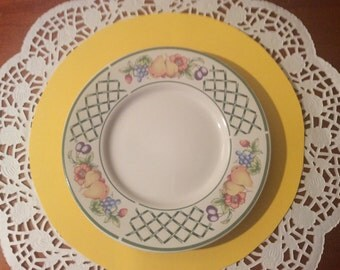 Set of 8 Botanica pattern by Signature Stoneware - side plates