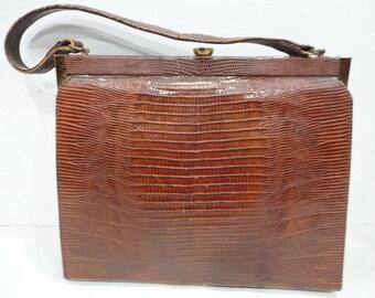 Vintage Lizard Skin Purse