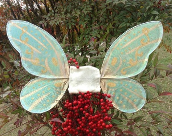 OOAK Fantasy Petite  Pixie Wings child size white iridescent